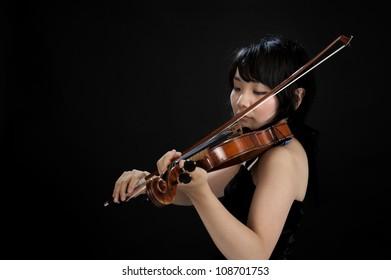 female asian violinist