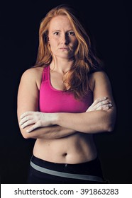 Female Athlete. Sports Woman Dark Gritty. Strength & Determination Climbing