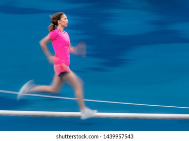 female Athlete in track and field