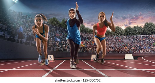 Image result for muslim women running