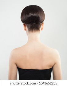 Female Back and Updo Hair