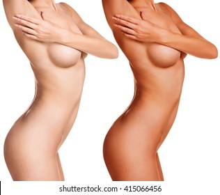 Female body before and after tunning