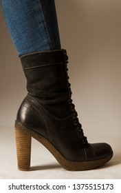 Female boots and the jeans