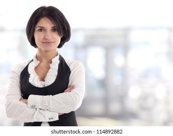 Female Business leader standing