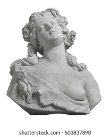 Female bust sculpture isolated