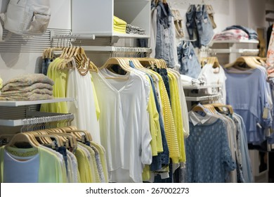 female casual clothes   in boutique