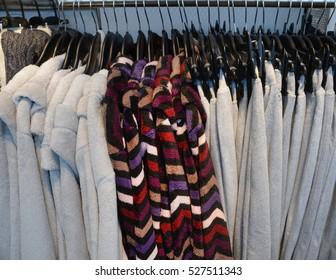 female clothing , coat on hanging
