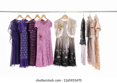 female clothing ,with floral sundress on hanger