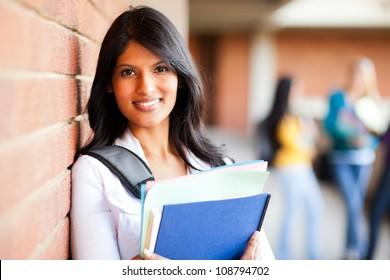 female college student closeup portrait