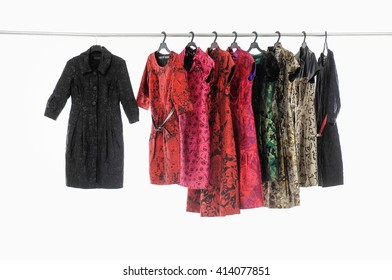 female colorful clothing ,sundress on display
