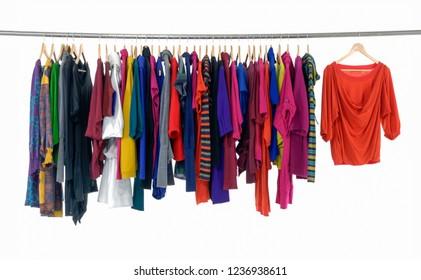 female colorful clothing ,sundress,shirts  on display