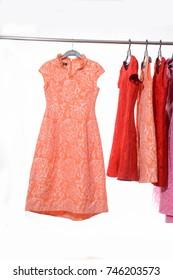 female colorful floral sundress clothing ,sundress on hanger
