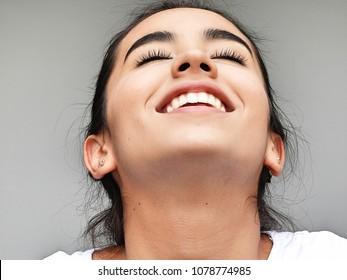 A Female Daydreaming