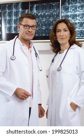 Female doctor and male doctor