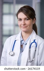 Female Doctor in modern office