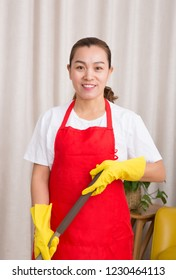 a female domestic service worker