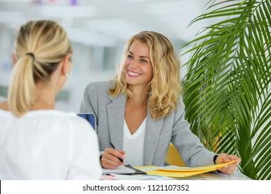 female employment concept