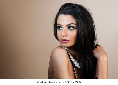 female fashion model wearing jewellery