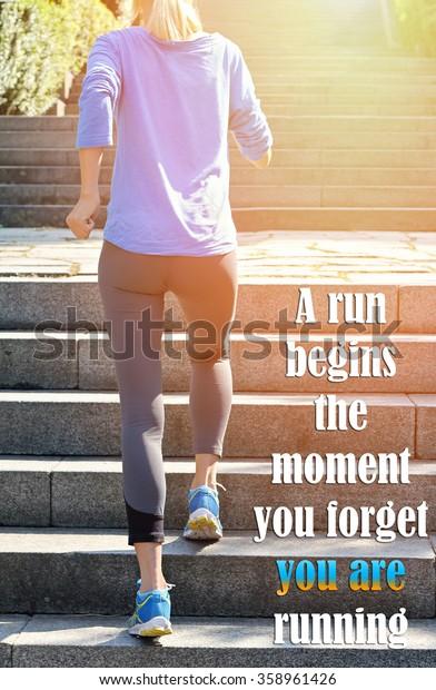 Female Fitness Motivation Run Begins Moment People Stock Image 358961426