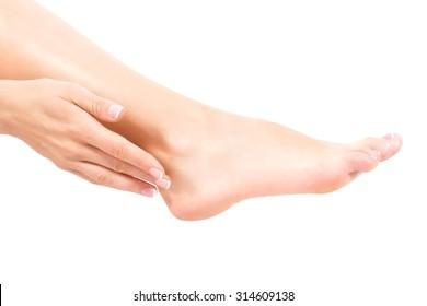 female foot. shot in studio