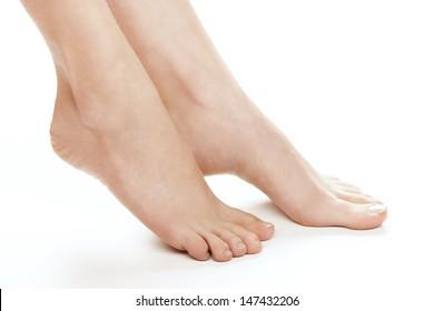 Female foot. Studio shot.
