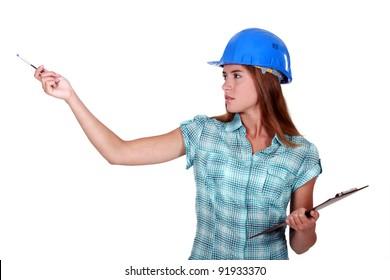 A female foreman.