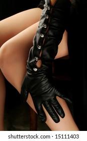 Female hand in a beautiful glove