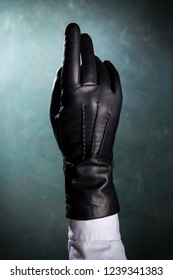 Female hand in a beautiful leather glove