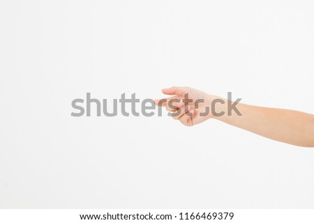 Female Hand Holding Invisible Items Womans Stock Photo (Edit Now