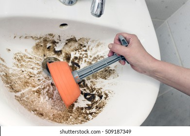 Bathroom Sink Clogged Hd Stock Images Shutterstock