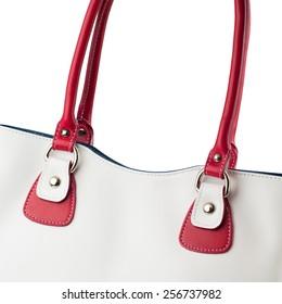 Female handbag isolated on white background.
