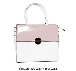 A female handbag on a white background