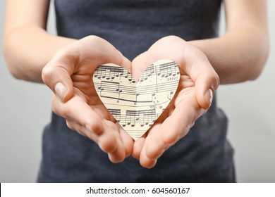 Musical Notes and Emotions Stock Photos, Images