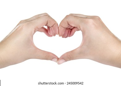 Female hands shaping a heart symbol