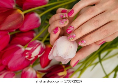 female hands tender spring manicure 260nw 1738723289