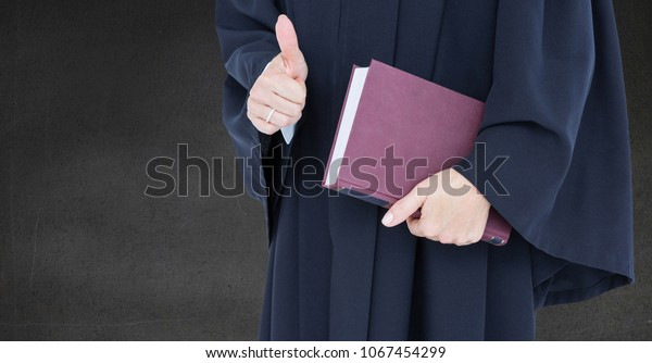 Female Judge Mid Section Book Thumbs Stock Photo Edit Now 1067454299 We keep this site updated for every day. shutterstock