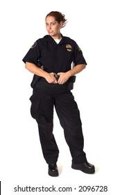 Female Law Enforcement Officer in Uniform
