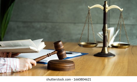 Female lawyer or notary with client in her office for counseling. Law Concept