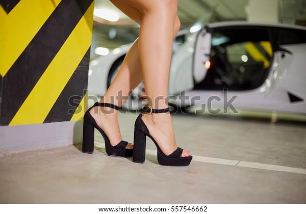 Stock Now557546662 Female Highheel Photoedit Near Legs Shoes Striped PXTZOkiu