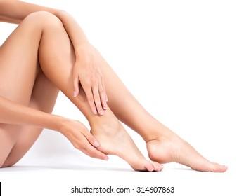 female legs. shot in studio