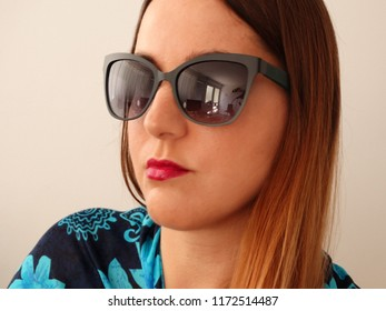 169e1e3ea788 Girl Stylish Glasses Portrait Studio Shot Stock Photo (Edit Now ...