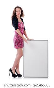 Female model isolated on white