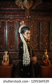 the female model of the Javanese bride is black and uses Javanese customs, January 13, 2019, Magelang Indonesia