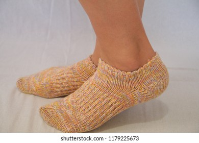 Female Model - Wearing socks