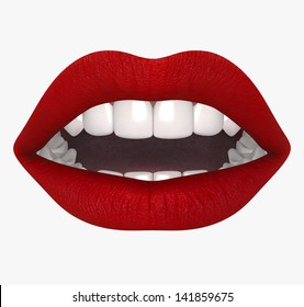 Female mouth. Lips in 2013 trend colors, isolated on white background, hires, ray traced