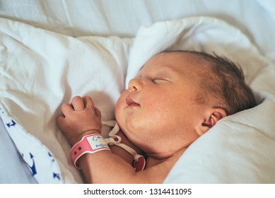 Female newborn 2 days after the birth