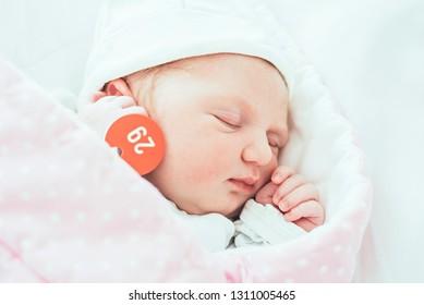 Female newborn 3 days after the birth