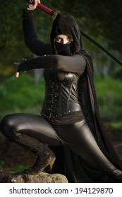 Female ninja in battle