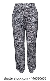 Female pants with pattern