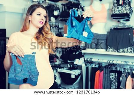 a29239a0069 Female Person Choosing Sports Underwear Lingerie Stock Photo (Edit ...
